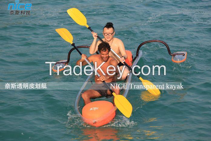 Clear polycarbonate kayak canoe