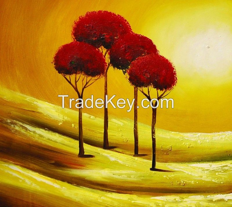 sea oil painting Abstract Painting sunset oil painting