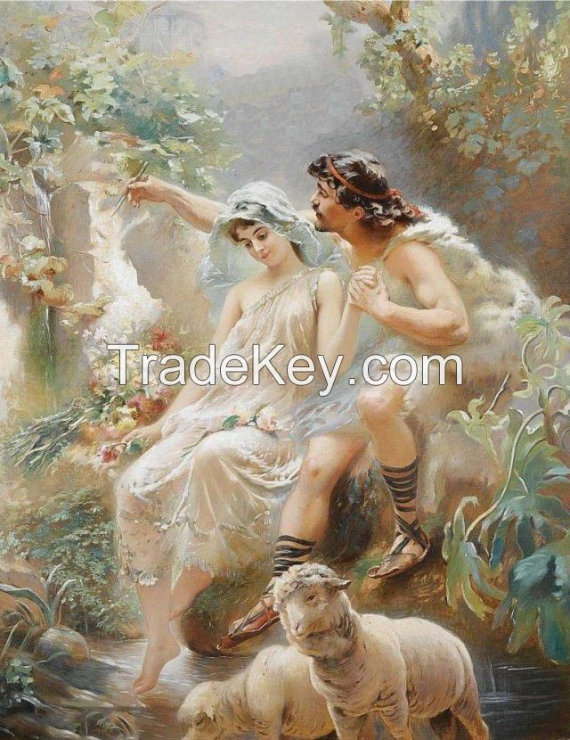 Canvas art work sticker flying fairy family naturalism photo oil paint