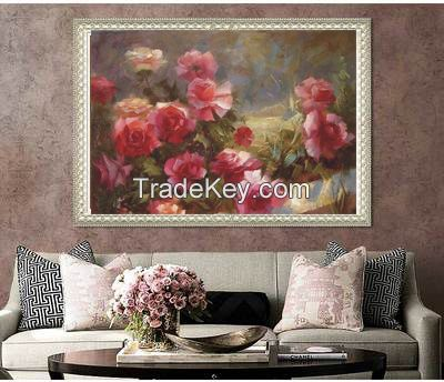 High quality Wall sticker oil painting wallpaper butterfly abstract