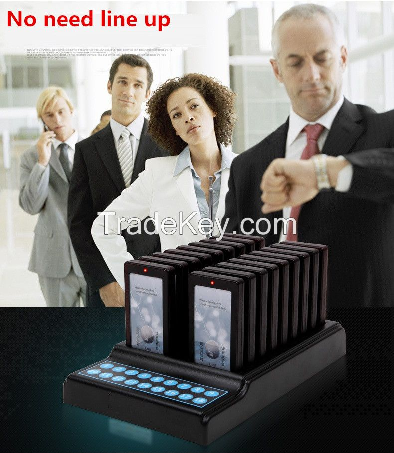 18 Boards Digital Restaurant Coaster Pagers / Guest Table Wireless Waiting Paging System