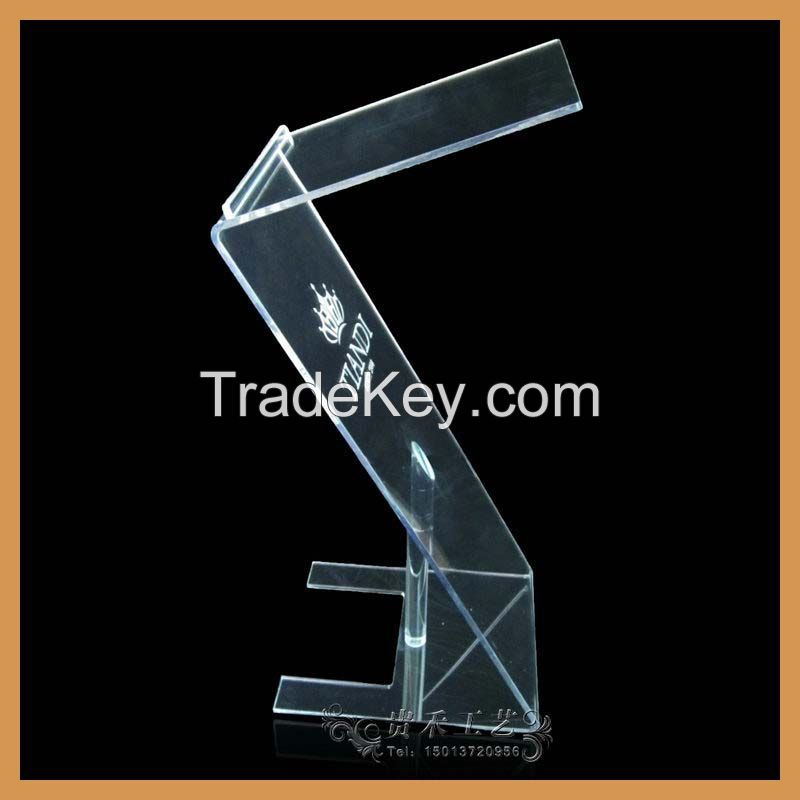 Z shape acrylic podium, 2015 new organic glass lectern