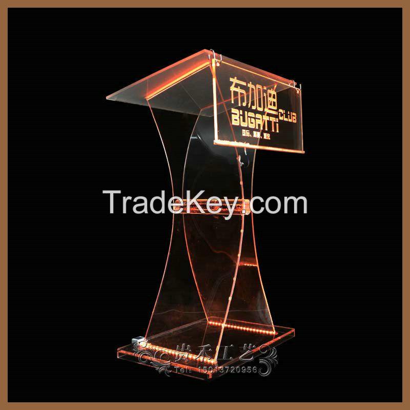 Guihe high quality acrylic podium, pacrylic pulpit