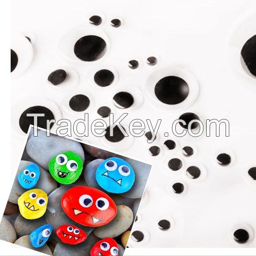 Assorted DIY Craft Creative White and black craft round wiggly eyes