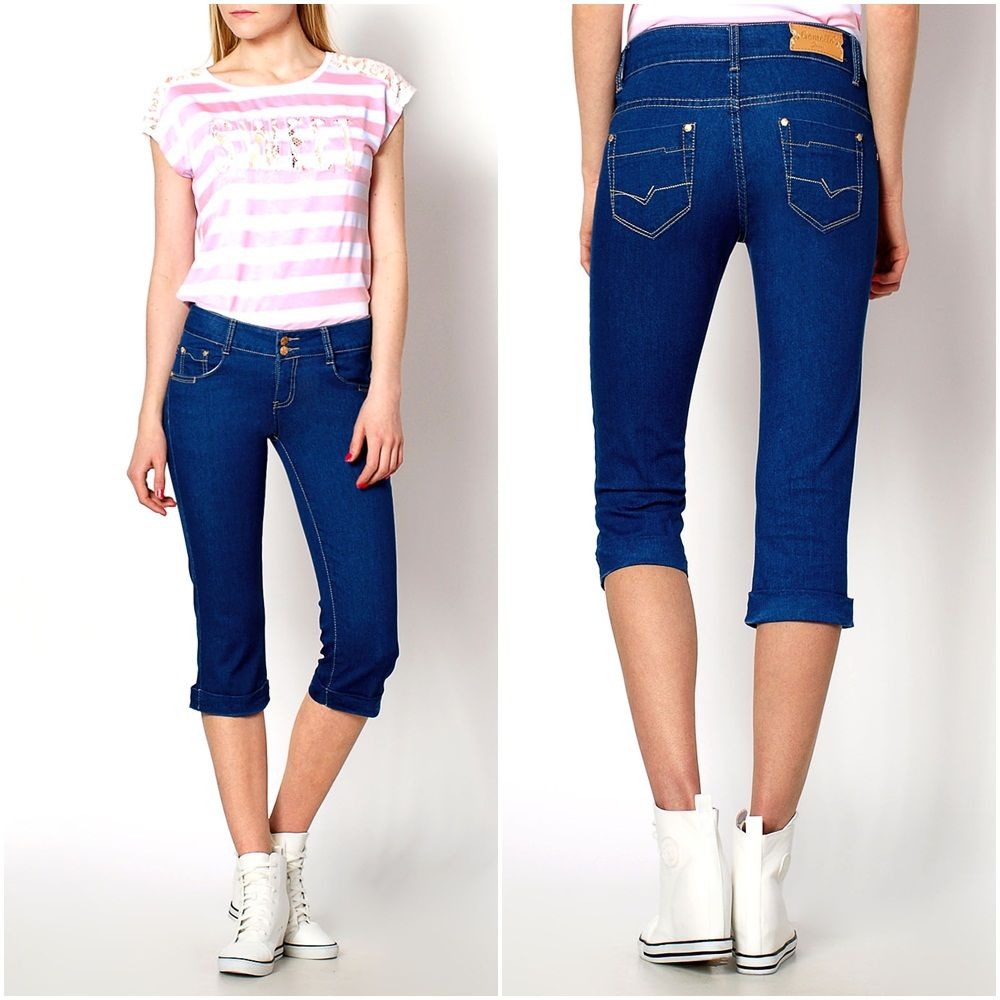 2015 NEW Fashionable Jeans Trousers Casual Short Capri Cropped Trendy Pants KB1499