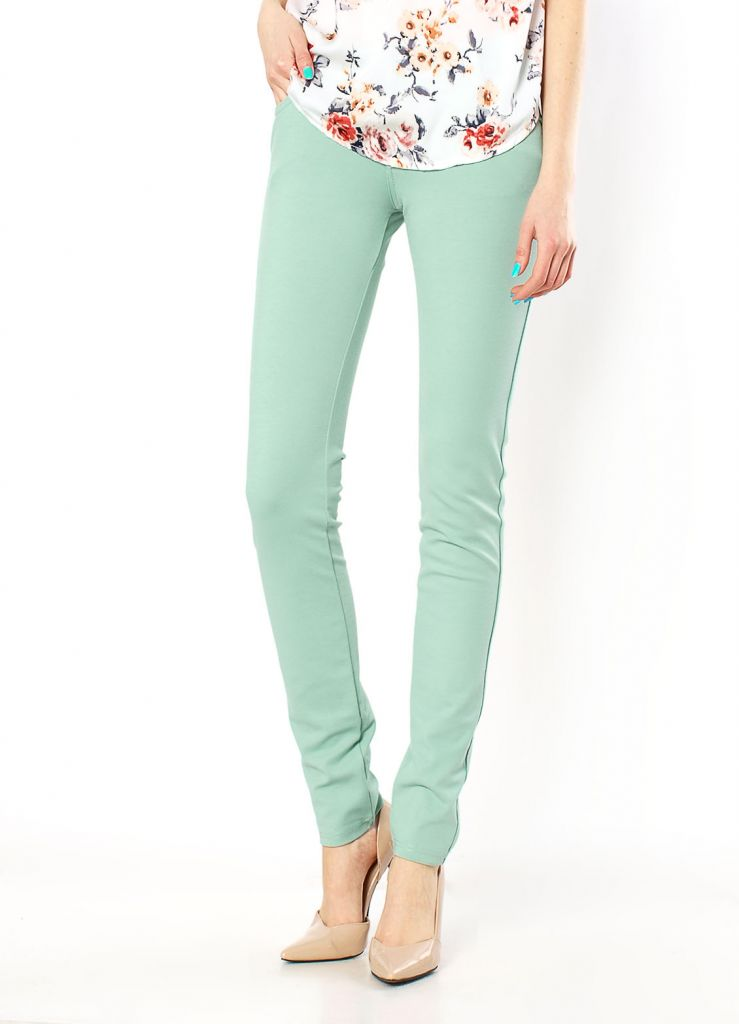 2015 Women Ladies Skinny Pencil Stretch Colour Long Pants Trousers 3030
