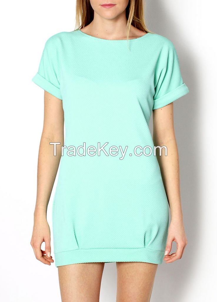 NEW 2015 Fashionable casual elegant cocktail women mini trendy quilted short dress 83418