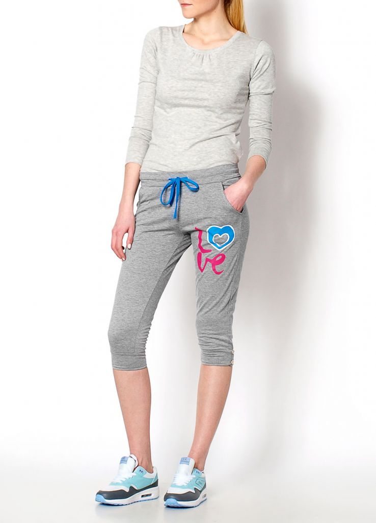 NEW 2015 Trendy Print Sport Spring Summer Casual Jogger Fashion Girls Trousers Yoga Gym Short Pants 6602