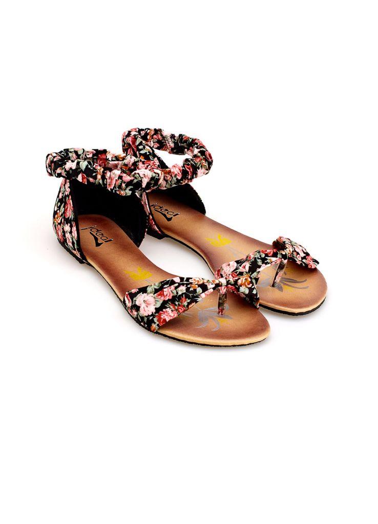 2015 Fashion Ladies Shoes Flat Fancy Women Party Dress Summer Floral Sandals G3530