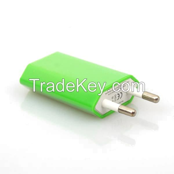 Hot selling, Top quality EU USB charger double color casing charger ad