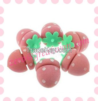 Hot! Hot! Strawberry Sponges Hair Roller Types Prices