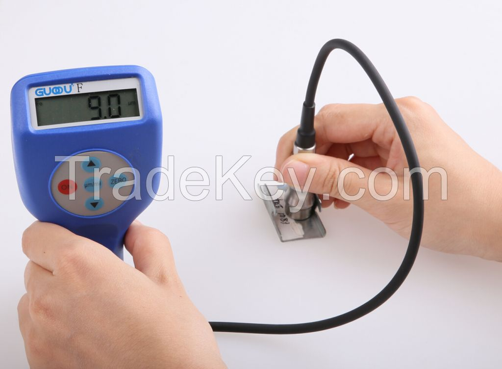 Time-limited coating thickness gauge with removable probe