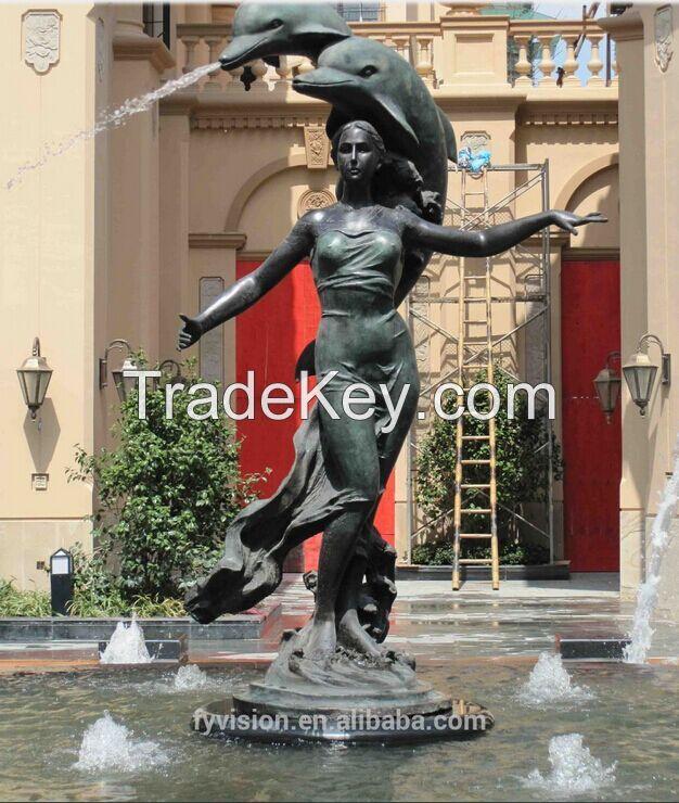 Outdoor Bronze Nude Female Sculpture