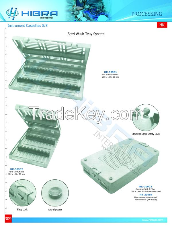 Instrument Cassettes And Mesh Trays