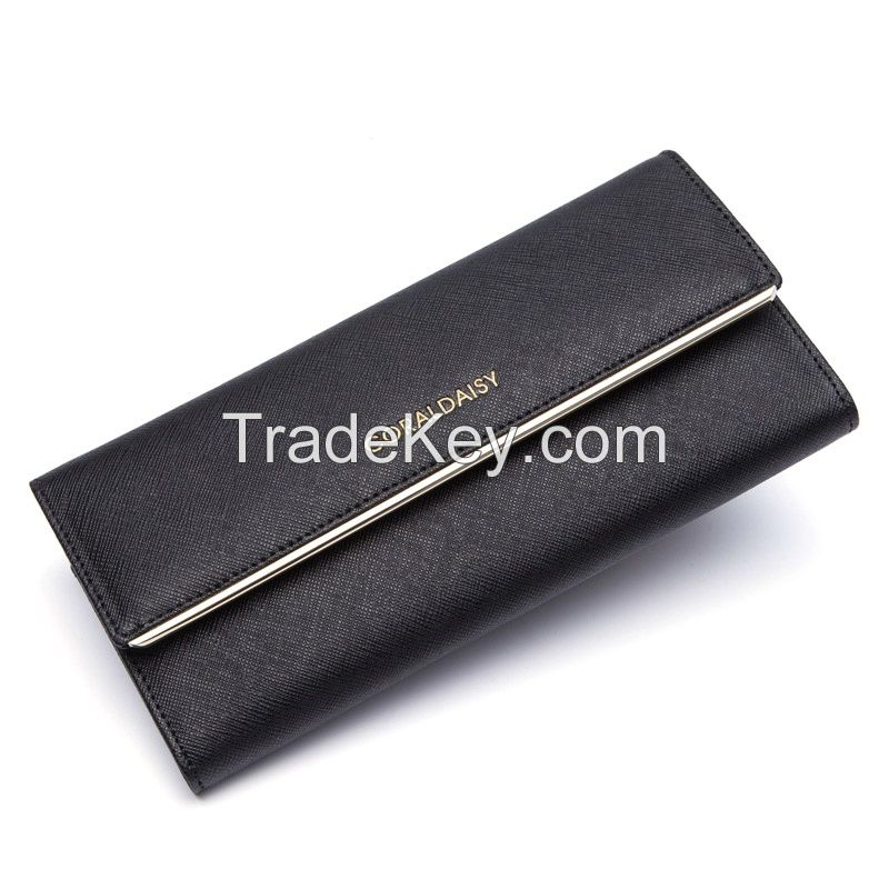 Bronzing LOGO wallet long section