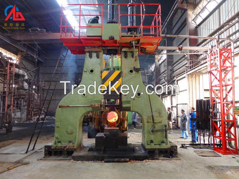 Hot forging C66 series hydraulic open die forging hammer for open die forging industry