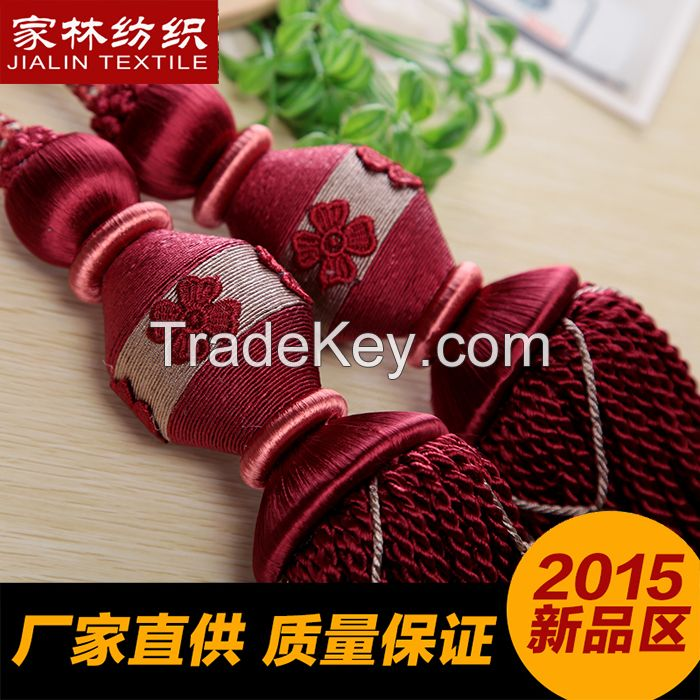 2015 new style tassel fringe tiebacks for curtain