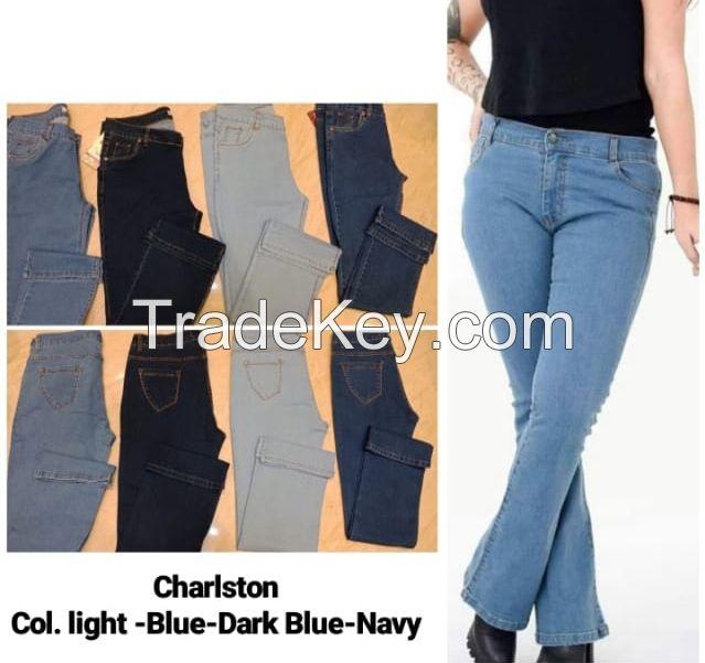 ladies jeans double straight