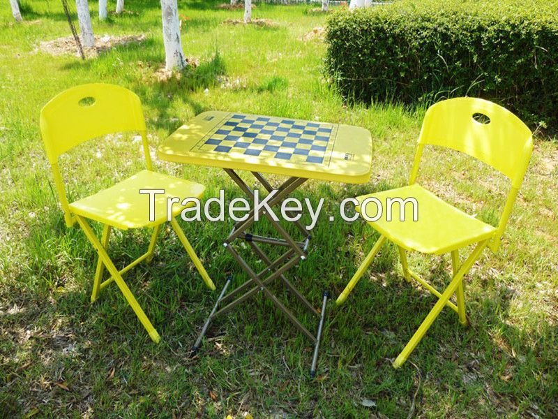 Three-piece combination indoor balcony chairs folding chairs balcony terrace furniture tea table and chairs for outdoor din