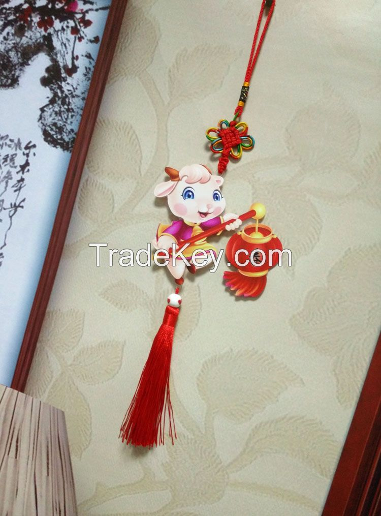 Chinese knot plastic car hanging ornament
