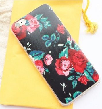 iPhone6 plus flowers TPU phone sets Apple painted shell 6 more customized models