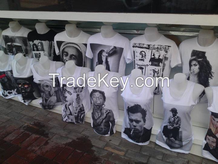 Highest Quality Silkscreen Printed * 100% Cotton * Custom Order * Tshirt Tees Singlets Sweatshirts