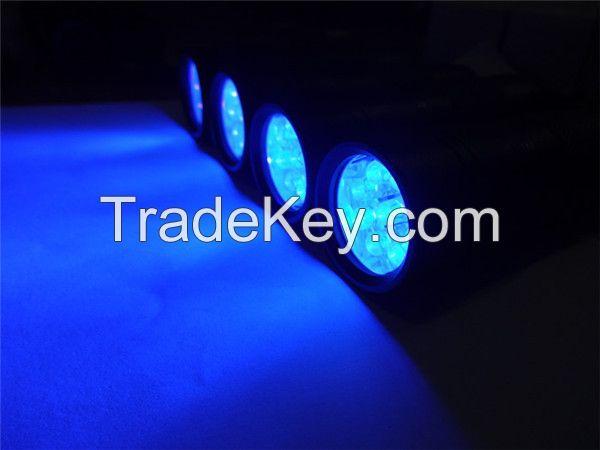 Good Quality 2 piece 395-400nm LED Black Flashlights