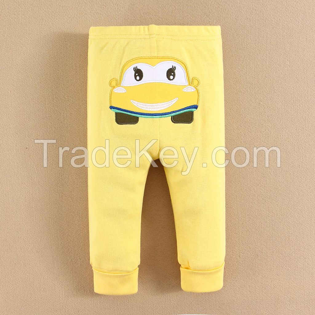 Animal Embroidered PP Pants