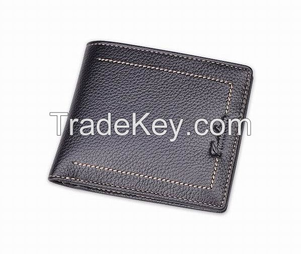 Mens Cattlehide Wallets| Fshion Men Personalized Genuine Leather Wallet With High Quality And Card Holder | 2017