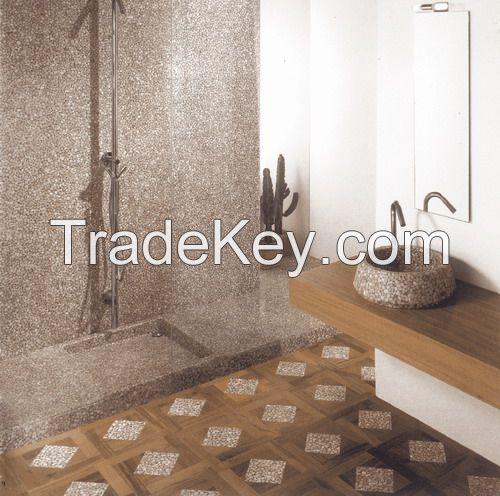 Fashion translucent hand basin - pebble stone