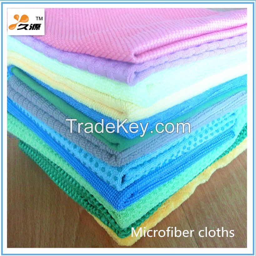 Manufacturer directly supply top quality 80/20 streak free microfiber towel (JY-0011)