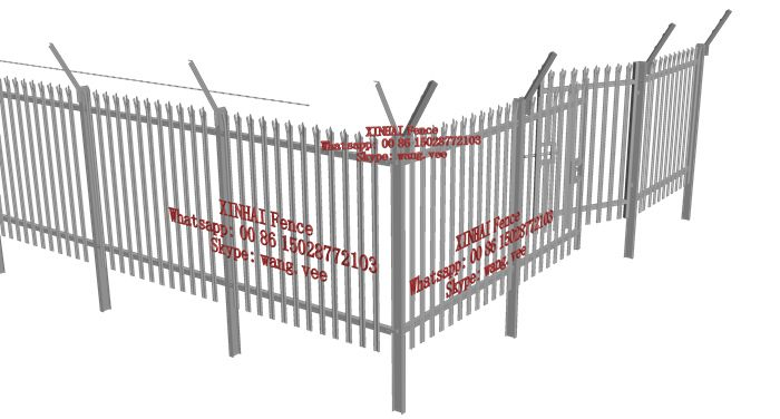 hot dip galvanized palisade fence for tower