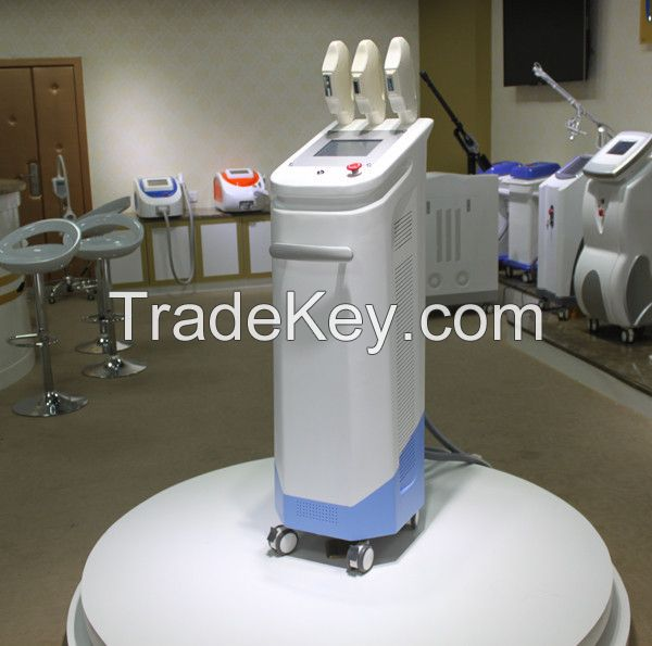 China Best Quality 3 Handles Multifunction IPL Hair Removal Machine