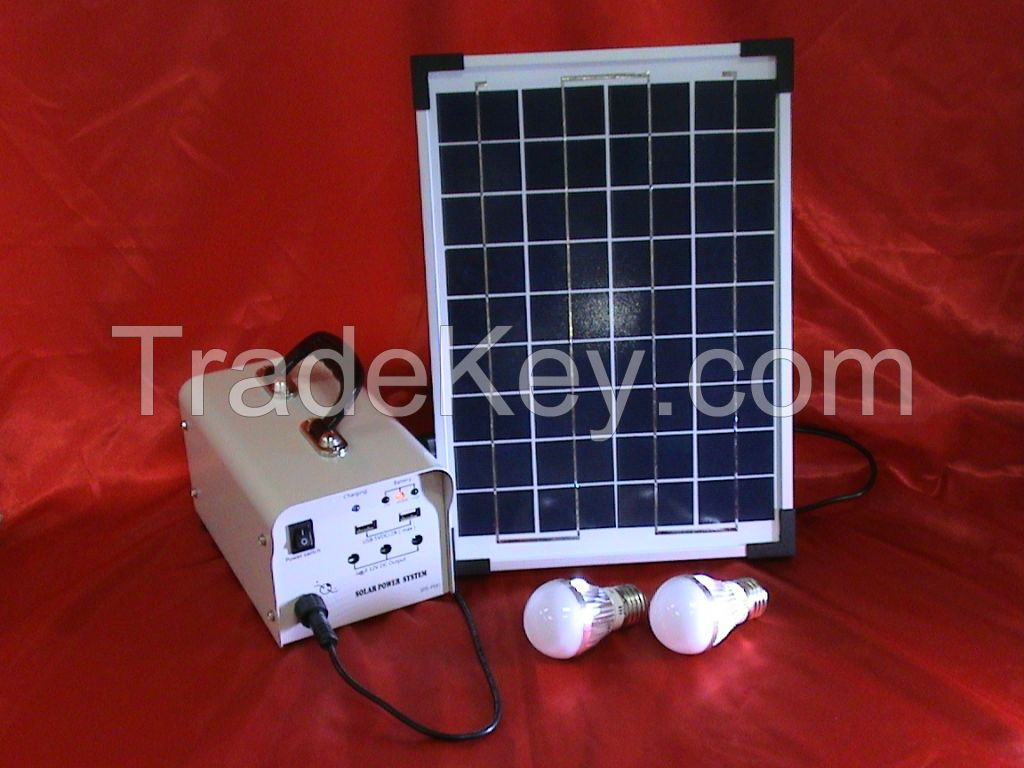 10W solar power bank with LED lighting