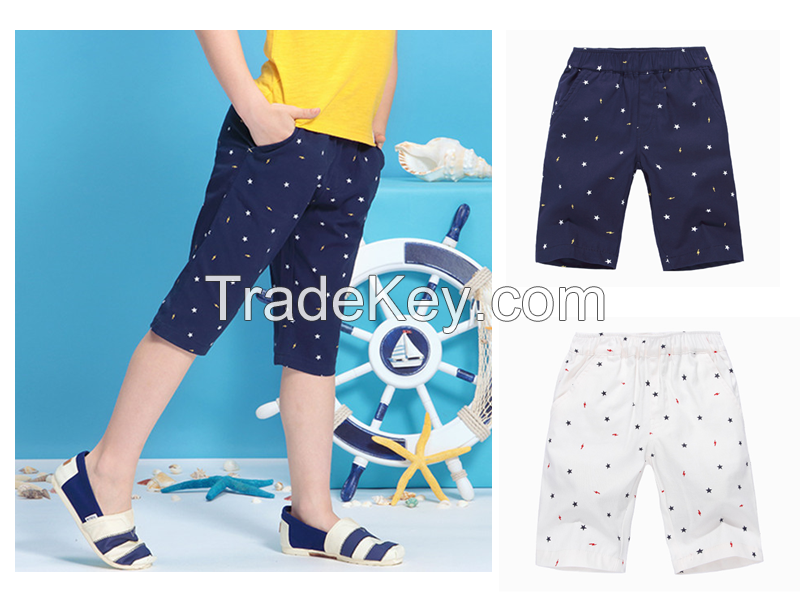 Children's summer shorts men's sports pants casual pants thin section tide