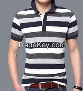 Shortsleeves Stripe Men Polo Shirt Factory