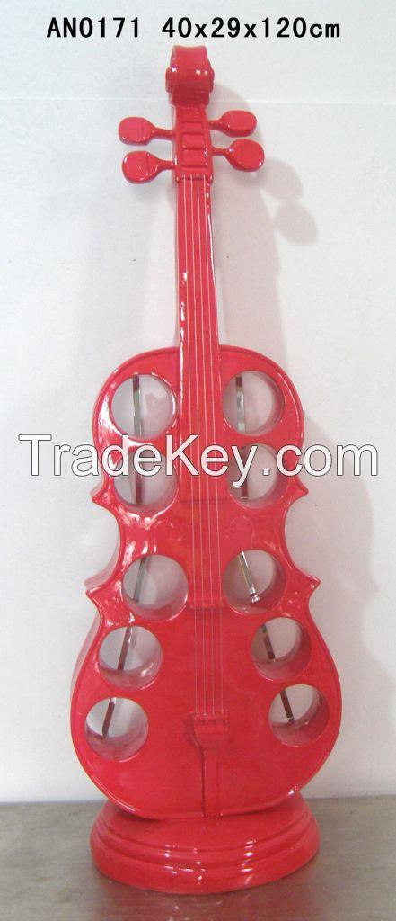 120cm H Violin wine holder