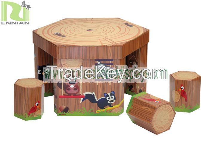Eco Corrugated Cardboard Furniture Table and seats