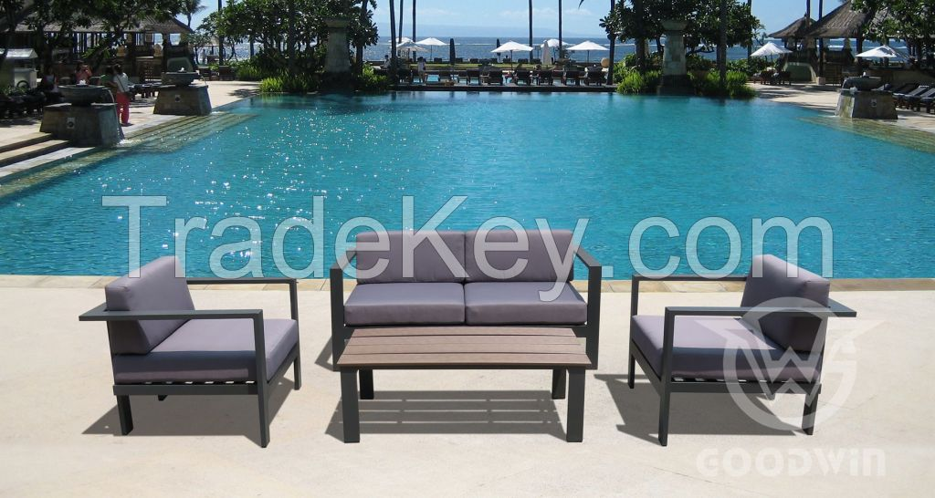Simple mordern design all weather commercial furniture outdoor garden