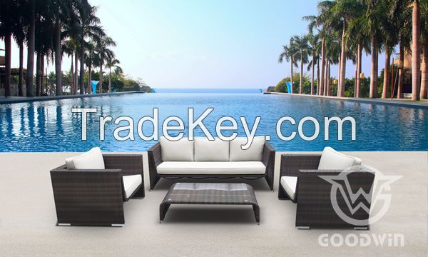 high quality outdoor furniture patio furniture rattan sofa set