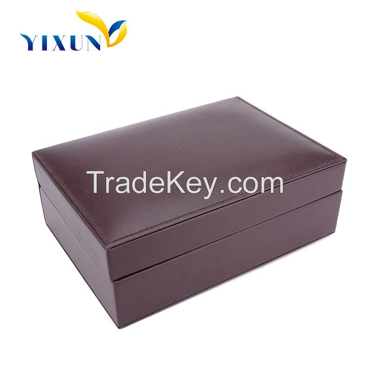 High quality new type customized leather cover wooden watch box