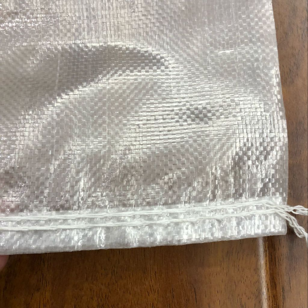 virgin clear transparent poly woven animal feed bag