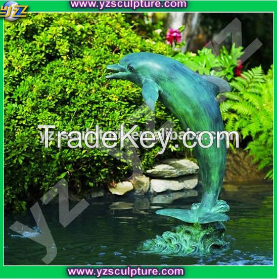 garden dolphin bronze water fountain