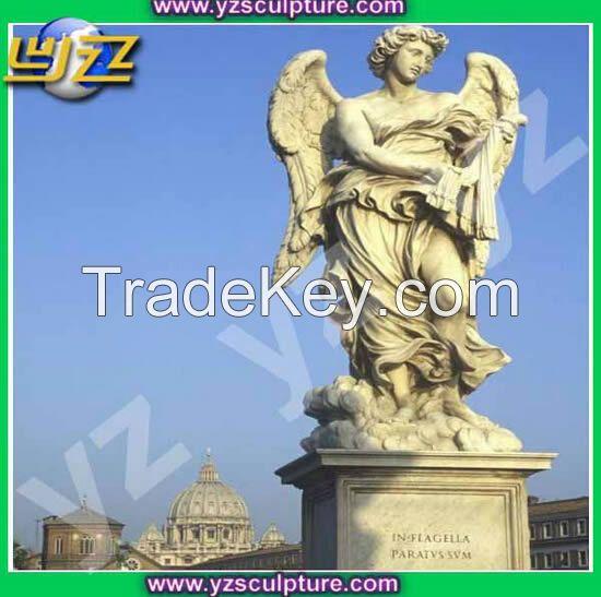 garden natural marble angel statue