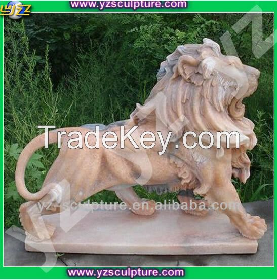 Natural sunset red marble Animal sculpture