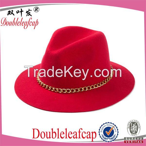 Wholesale Wide Brim Felt Hat/100% Wool Felt Hat Fashion Custom Wool Fe