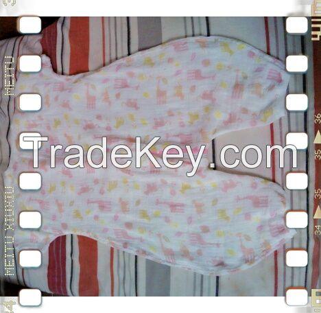 Cotton gauze Muslim baby sleeping bag
