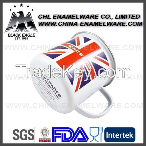 Rolled rim custom enamel mug for promotion