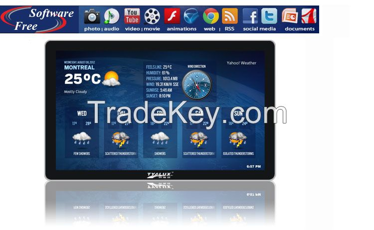 Digital signage advertising Display with video ad Player, commercial LCD display