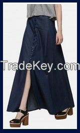 Denim Midnight Maxi Skirt Online USA